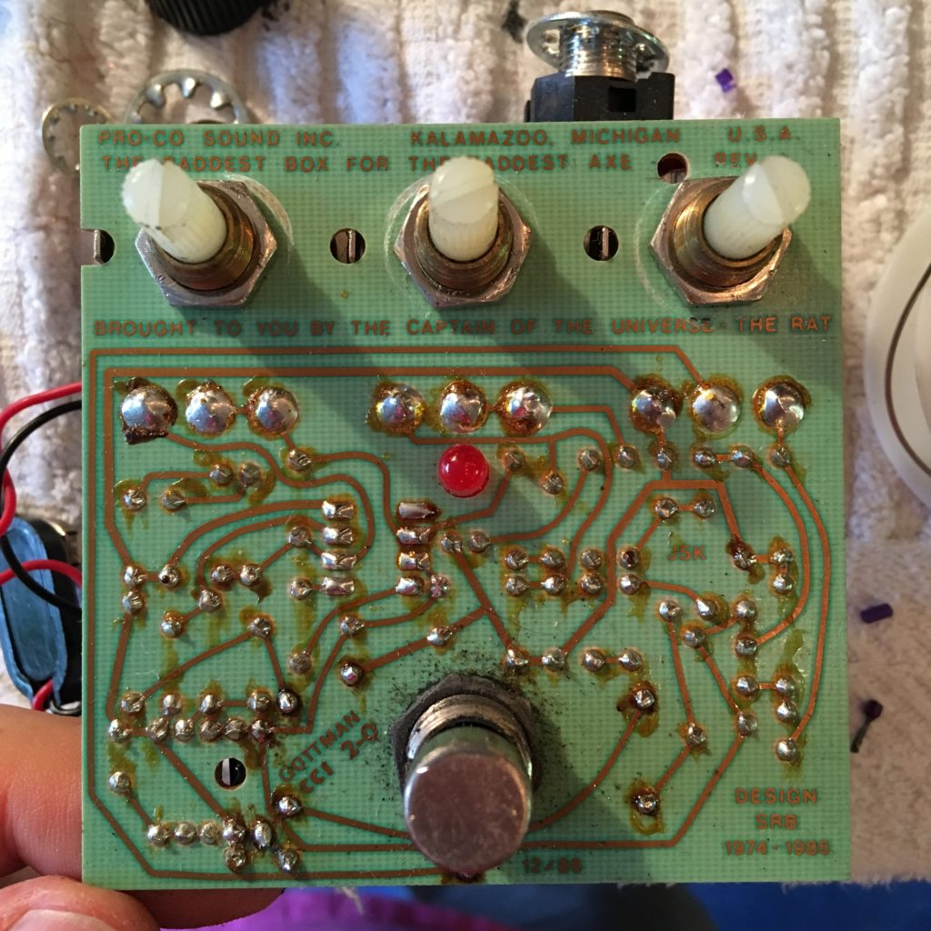 ProCo Rat Pedal Circuit Board