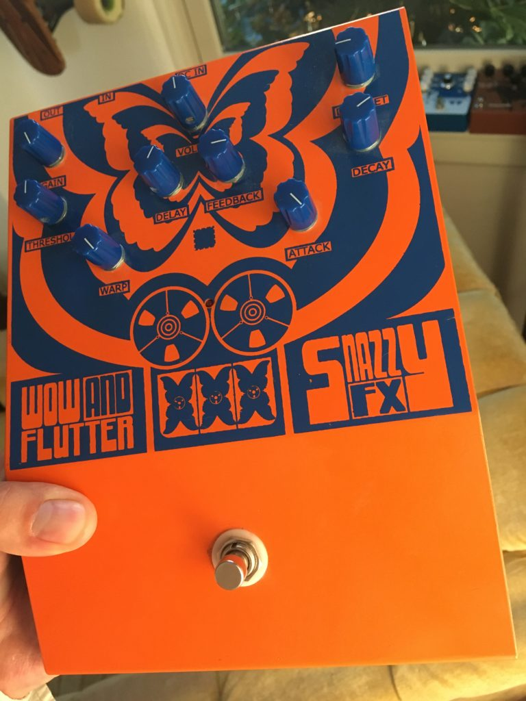 Snazzy FX Wow and Flutter pedal